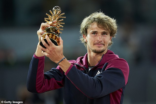 Alexander Zverev won the Madrid Open with a three-set victory over Matteo Berrettini