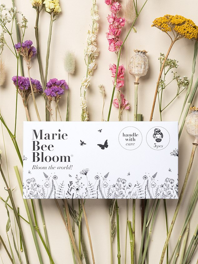 Marie Bee Bloom Face Masks, 15 euros (£13) for five, mariebeebloom.com, Currently only available in the EU, but there are plans to ship worldwide soon
