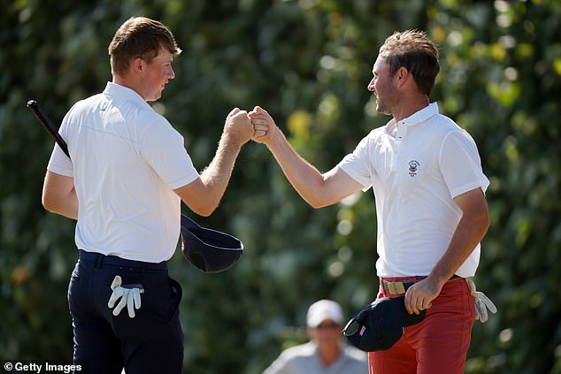 Elsewhere, Mark Power of Team Great Britain is performing well in the Walker Cup in Florida