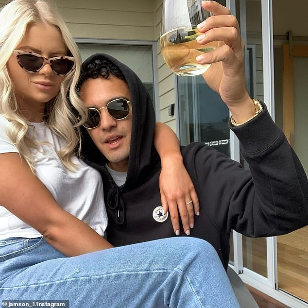 Splitsville: telltale sign, Georgia no longer has photos of the sports star on its social networks.  Pictured: The couple in September 2019