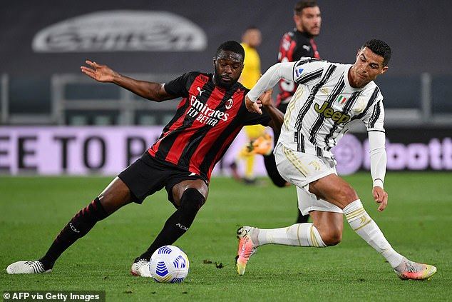 Tomori was part of a back four that successfully shackled Juventus' talisman Cristiano Ronaldo