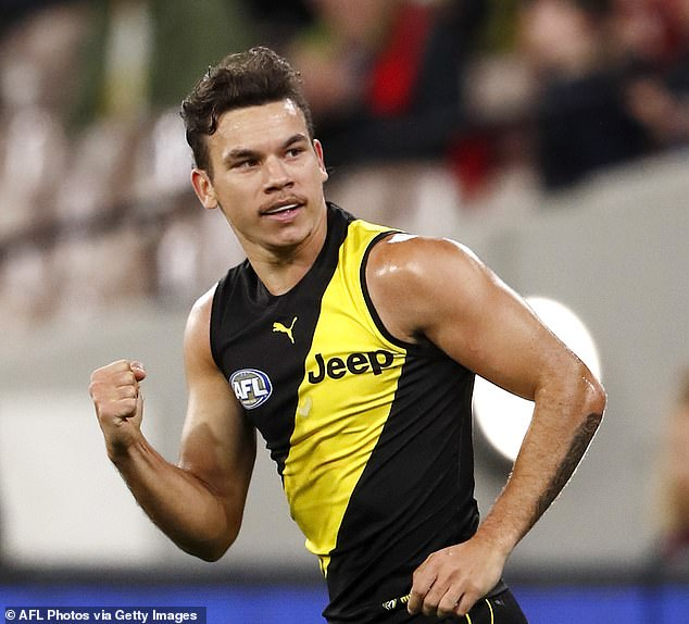 The melee started when Daniel Rioli's girlfriend was 'subjected to inappropriate behaviour' from a fellow nightclub patron