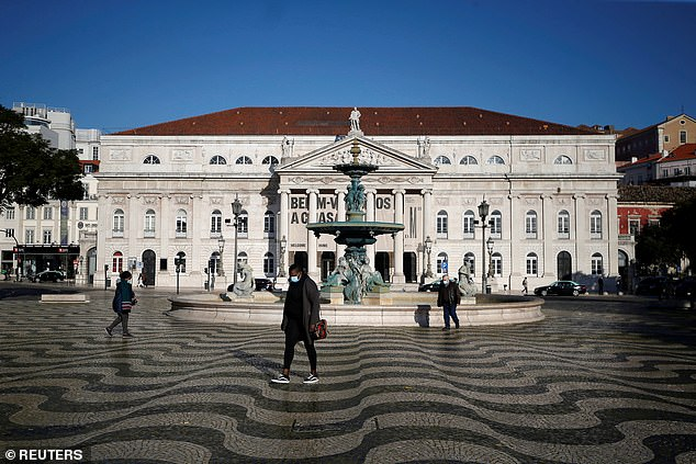 Rossio square in Lisbon is pictured in January, ahead of the influx of UK visitors expected soon