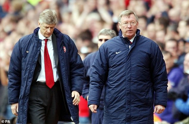 Neville likened the quality of managers to that of Sir Alex Ferguson (right) and Arsene Wenger