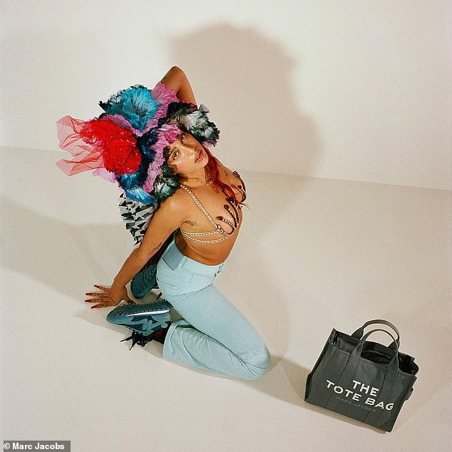 Model move:This comes after the budding model posed for Juicy Couture, Stella McCartney and Marc Jacobs (pictured)