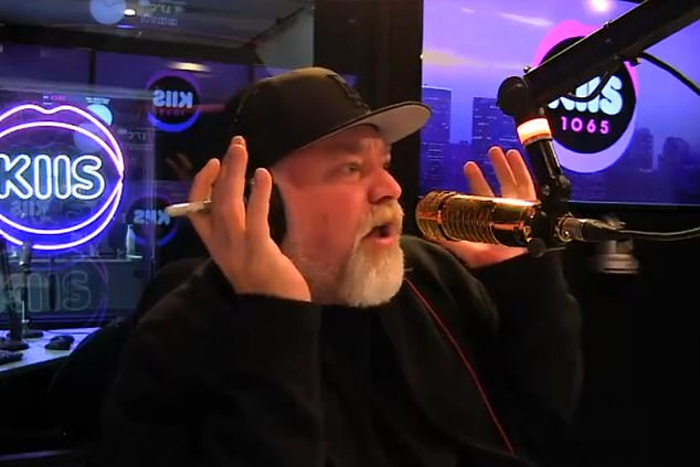 Ropeable:It comes a week after Sandilands sensationally threatened to quit his top-rating breakfast show last Tuesday over a disagreement with KIIS FM management