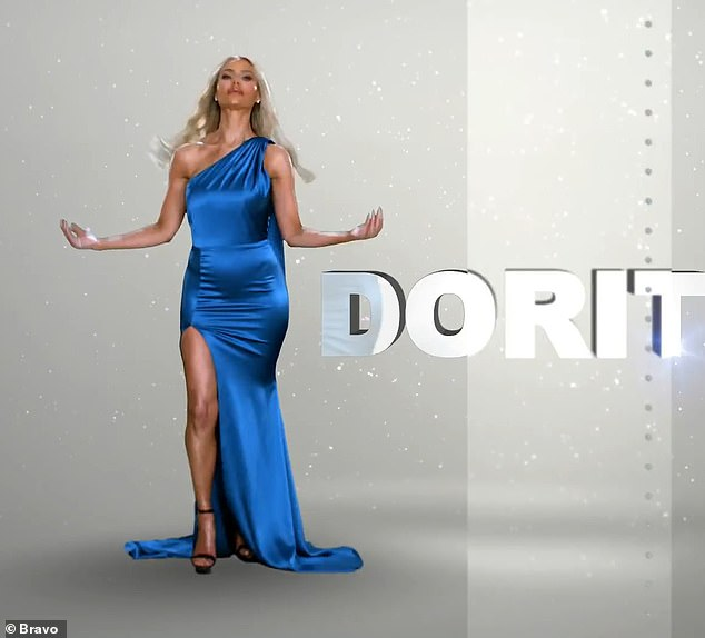 'Dress like there's no tomorrow, then do it again tomorrow,' says Dorit Kemsley, 44, as she poses in a bold blue satin dress