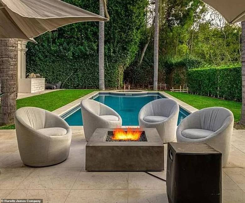Posh: There is also room for a seating area, patio and fire pit