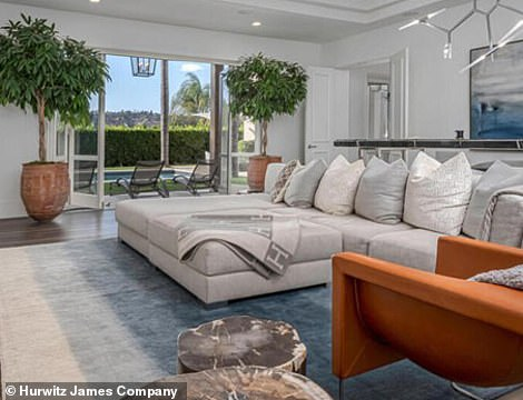 Inside the 5,500 sq. ft. home: Skylights and glass-walled windows provide copious light