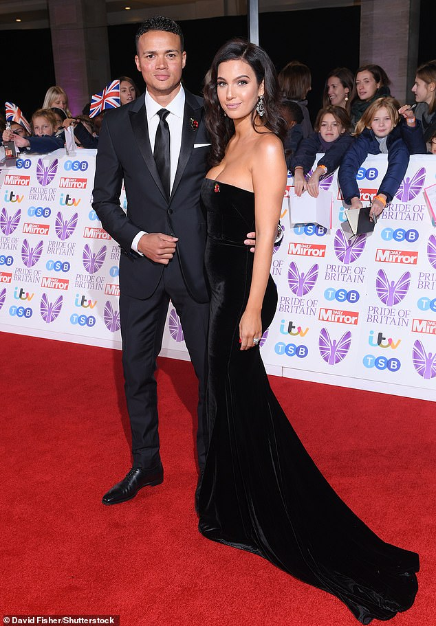 Happy days:Jermaine Jenas' wife Ellie Penfold is pregnant (pictured in 2018)
