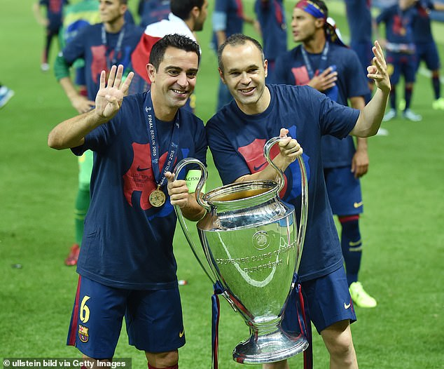 Iniesta left Barcelona in 2018 with nine La Liga titles and four Champions League crowns