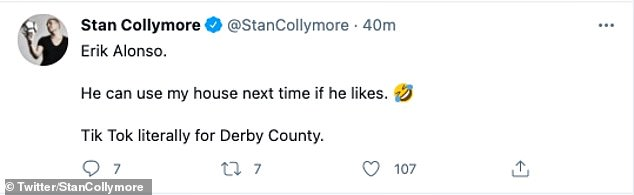 Stan Collymore gave his reaction on Twitter to Alonso's use of the house video
