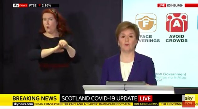 An emotional Nicola Sturgeon today announced that people in Scotland will be allowed to hug their loved ones again from Monday next week.