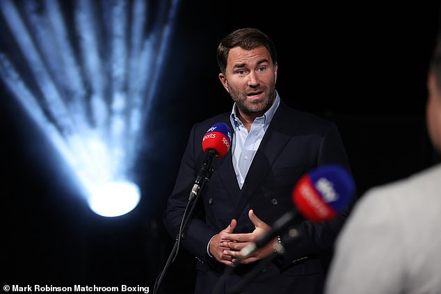 Hearn said the epic fight will be held in Saudi Arabia, as he backed the 'fantastic' organisers