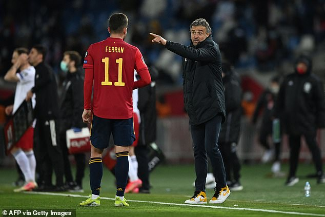 MARCA claim boss Luis Enrique (right) personally requested the Spanish FA to look into the possibility