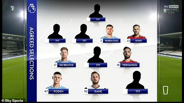 The Sky Sports duo have agreed on the selection of six stars in their XI, with Phil Foden in attack