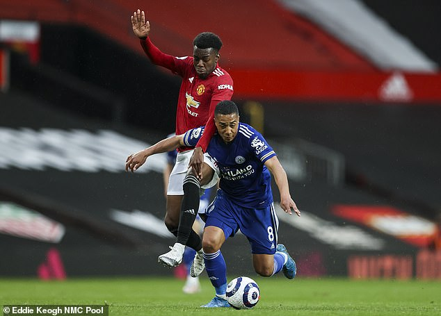Solskjaer was forced to make 10 changes from the weekend, and brought in Anthony Elanga