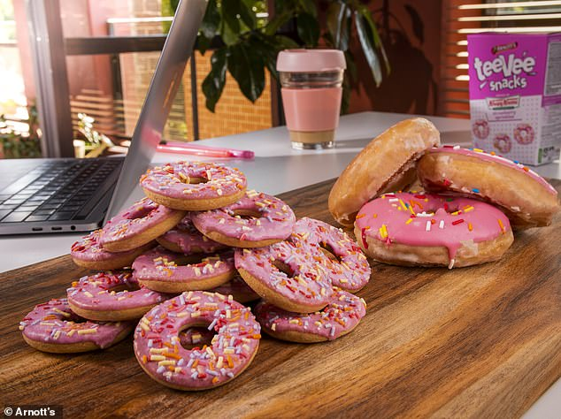 Arnott's has joined forces with Krispy Kreme to unveil a sweet new range of doughnut-shaped biscuits featuring five flavours