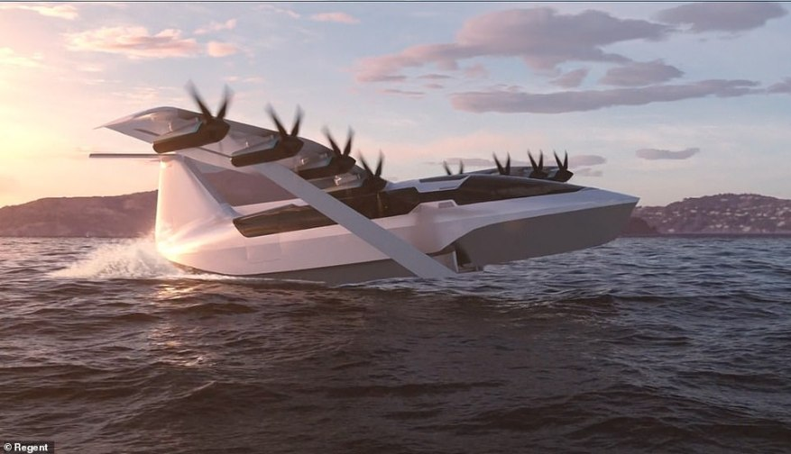Boston-based Regent aims to reduce the cost and hassle of traveling between coastal cities and has developed a one-of-a-kind vehicle to do so. Called a 'seaglider,' the all-electric flying machine combines the speed, comfort, and navigation systems of an aircraft with the convenience, maneuverability and affordability of a boat