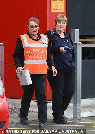 Pictured: The SafeWork SA representative