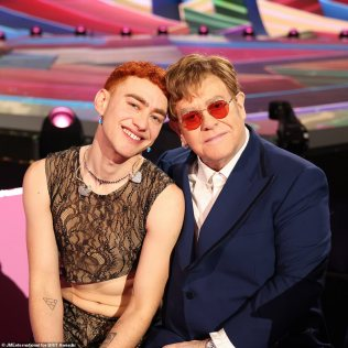 BRIT Awards 2021: Elton John and Olly Alexander's perform 'amazing'  rendition of It's A Sin' | Daily Mail Online