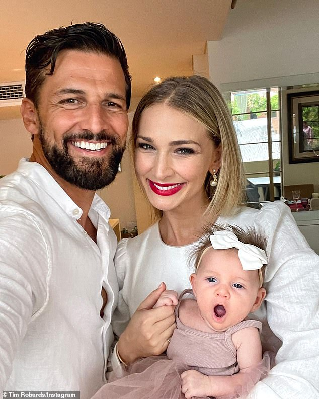 'My little angel': The Bachelor's Tim Robards and his wife Anna Heinrich have shared touching tributes to their daughter Elle as they celebrated her reaching six months on Wednesday