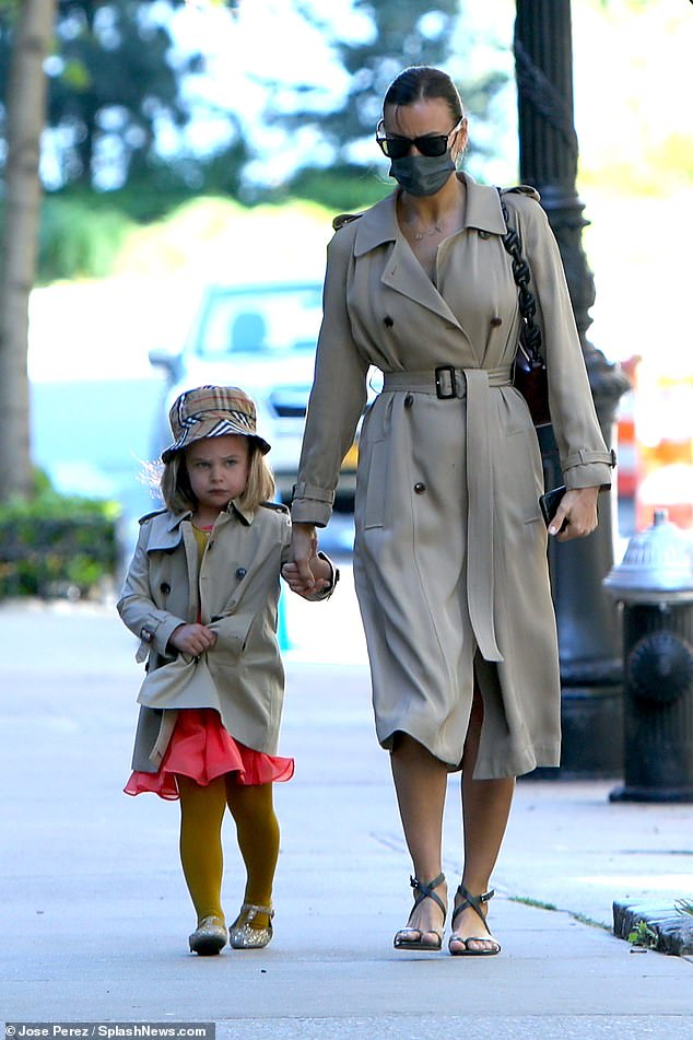So cute:She amicably co-parents daughter Lea De Seine with her ex partner Bradley Cooper. And on Wednesday, Irina Shayk was spotted enjoying a stroll with Lea, four, in New York City