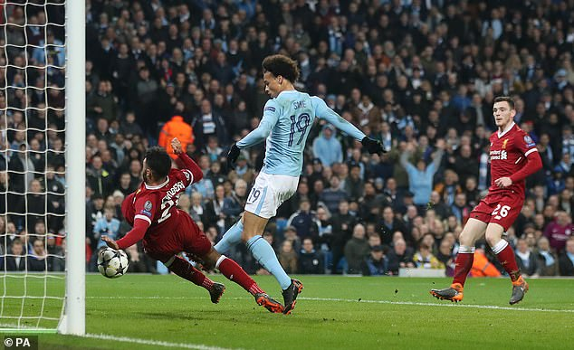 Guardiola was furious that Leroy Sane's goal that night had been ruled out for offside