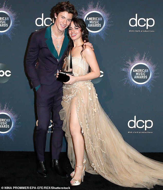 She moved on: Cabello went on to sing the hit song Senorita with real life beau Shawn Mendes; seen in 2019