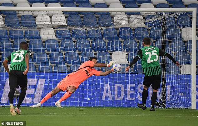 Legend Gianluigi Buffon, 43, became the oldest goalkeeper to save a Serie A penalty