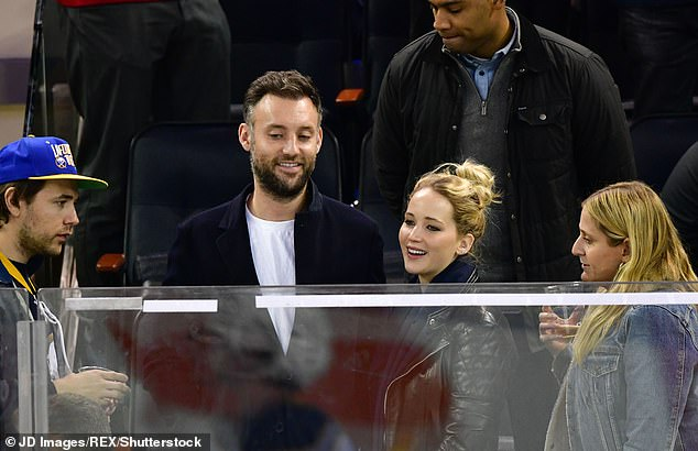 So in love: Jennifer is set to celebrate her second wedding anniversary with Cooke this fall; pictured November 4, 2018 at a New York Rangers vs Buffalo Sabres hockey game in NYC