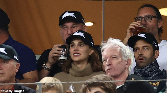 Footy fan?Natalie has been in Australia since September with her family. Earlier this month, the actress and her husband attended an NRL football game in Sydney alongside fellow A-Listers Chris Hemsworth and his wife Elsa Pataky
