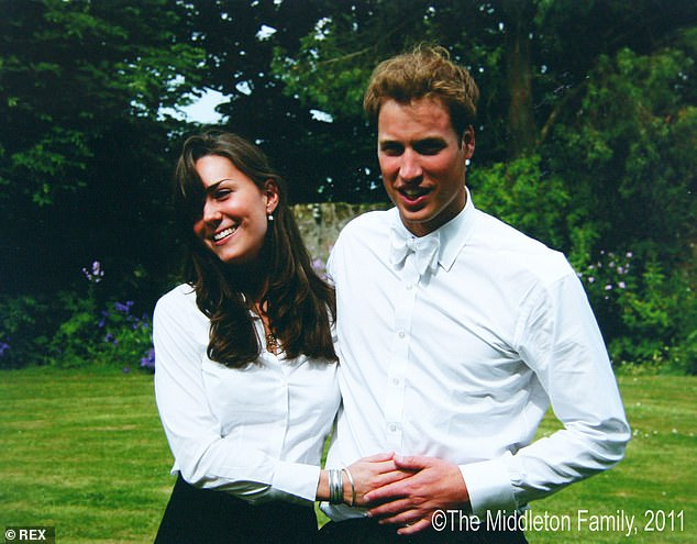 A woman who shared a dorm with the Duke and Duchess of Cambridge says Prince William was 'always paying attention' to Kate Middleton whenever she was in the room (pictured together in their uni days)