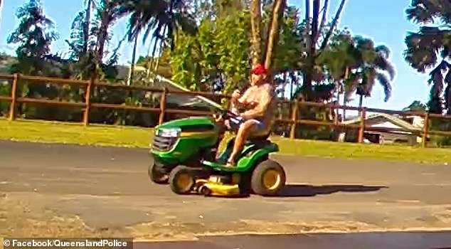 The man (pictured) asked to look at the John Deere mower at an address in Edmonton near Cairns in Far North Queensland on May 3 - but never came back