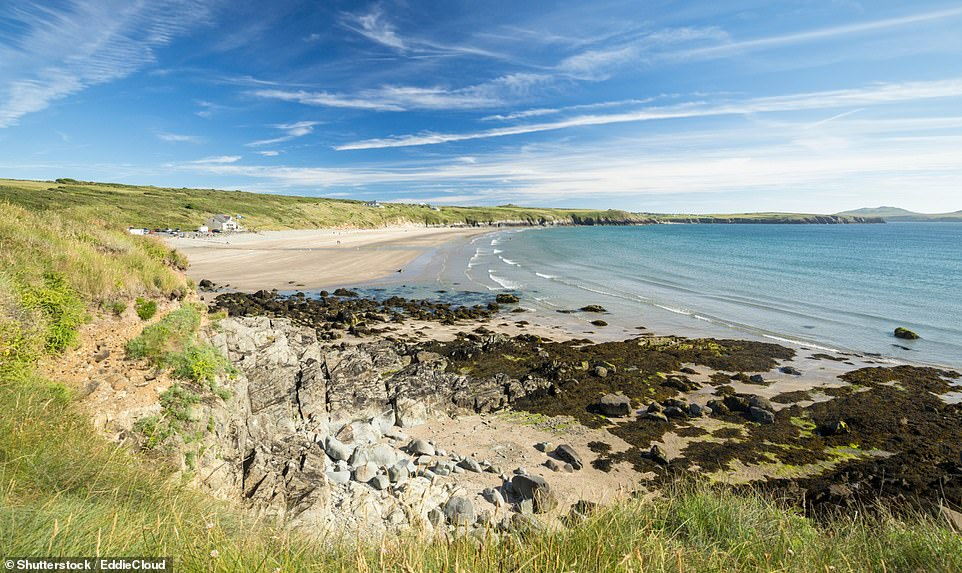 The stunning Whitesands Bay in Pembrokeshire - one of 45 beaches in Wales to be awarded Blue Flag status for 2021