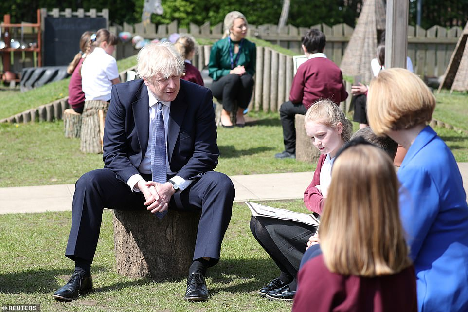 Boris Johnson (visiting a primary school in County Durham today) admitted he was 'anxious' about the Indian variant today spreading rapidly in the UK and warned the Government would 'rule nothing out' in its effort to contain it