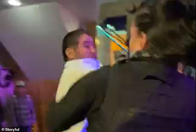 Video shows the shocking moment a security guard began beating up a patron at a restaurant