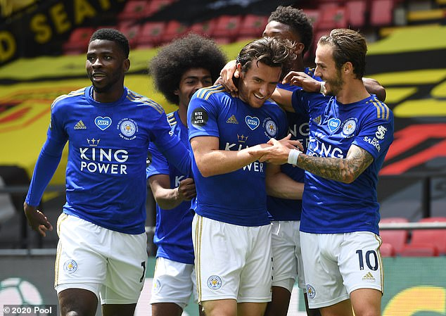 Chilwell scored a stunning goal for Leicester away to Watford shortly after the restart last year