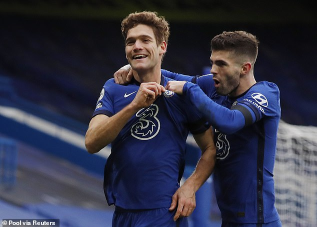 Tuchel restored Marcos Alonso to the Chelsea side at first, favouring five at the back