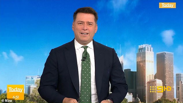 Cryptic remark: Today star Karl Stefanovic hinted at trouble in paradise for exiled royals Prince Harry and Meghan Markle while discussing the Duke of Sussex's latest interview on Friday