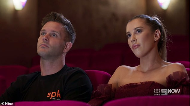 Discreet:The pair first met on March 10 and started dating weeks later. Jake had to keep their relationship under wraps to begin with because his 'marriage' to Beck Zemek (right) was still playing out on MAFS