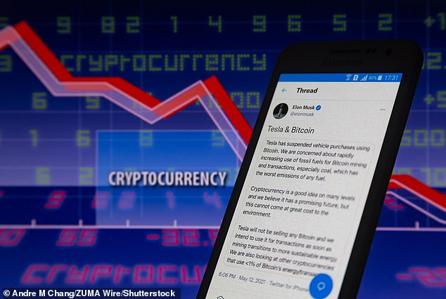 Musk's announcement that Tesla would no longer accept Bitcoin as a payment initially caused a huge 17 percent drop in the price of the cryptocurrency