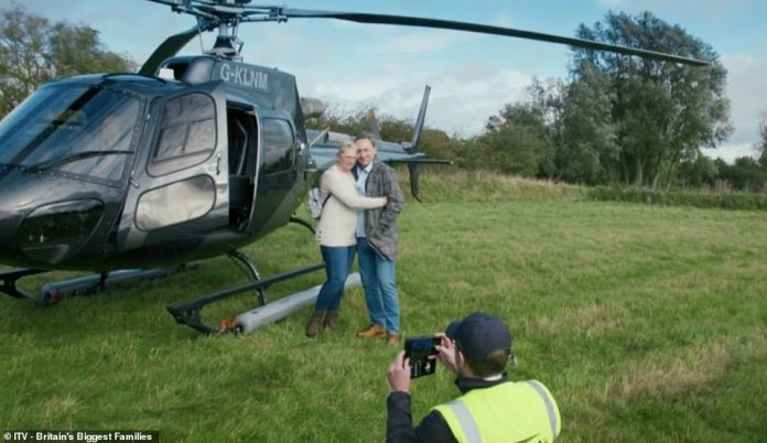The couple, pictured ahead of a £ 2,300 helicopter flight, have revealed how they rebuilt their very lavish lifestyles after being nearly homeless four years ago.