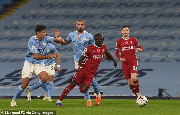 Keane said Kyle Walker was a 'car crash' after he fouled Sadio Mane in a draw with Liverpool