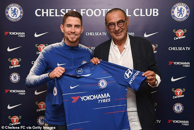 Jorginho was so integral to Maurizio Sarri's game plan, Chelsea spent £50million to bring him with the manager from Napoli in the summer of 2018