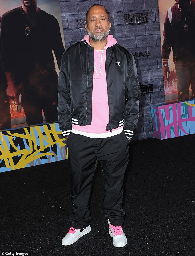 Expressing his thanks: Barris also wrote a lengthy message in the post's caption to let the show's viewers know how much he and the rest of Black-ish's crew appreciated their support over the years; he is seen at the 2020 premiere of Bad Boys For Life