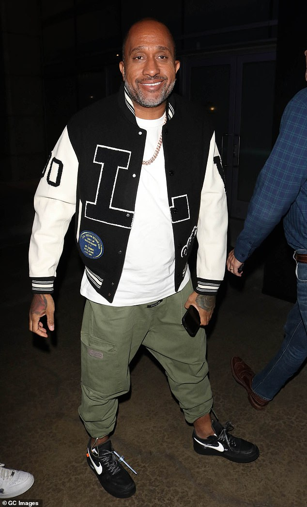 Making it known: Kenya Barris announced that Black-ish had been renewed for its eighth and final season on Friday; he is pictured in October of 2019
