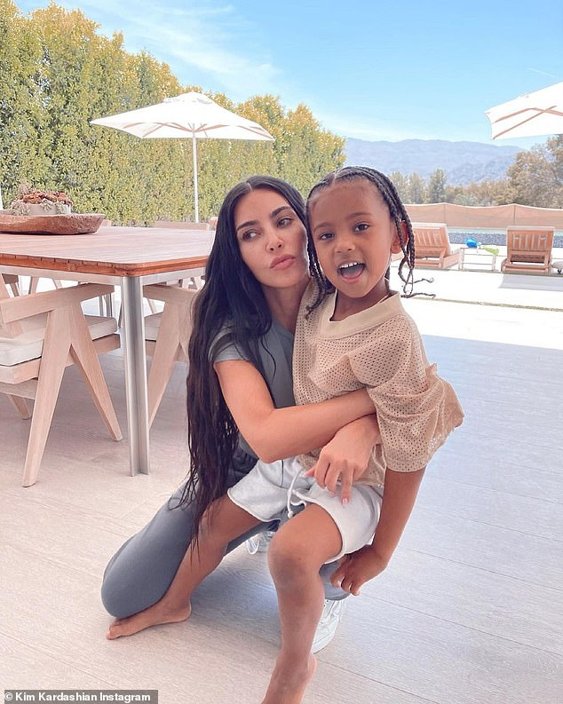 Saint: Saint was the last of Kim and Kanye's children to be taken in without the use of a surrogate - a topic that was discussed in depth in the May 13 episode of the reality show at success Keeping Up With The Kardashians;  photographed on May 7