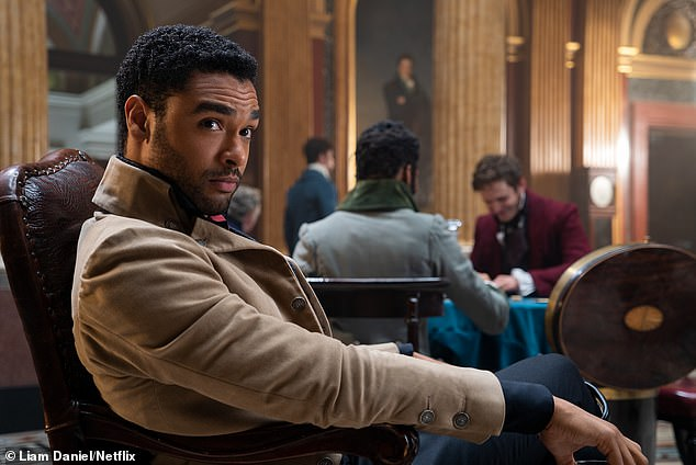 Star of the show: Meanwhile Regé-Jean became an overnight sensation when he portrayed heartthrob Simon Basset in fellow Netflix TV series, Bridgerton
