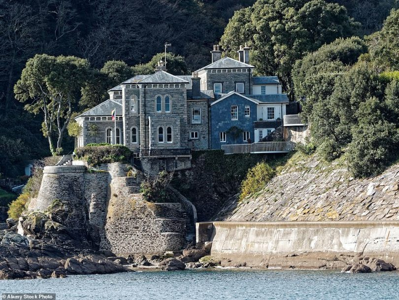 Stunning home: She owned Point Neptune House, which boasts huge, arched windows and stunning sea views, for 15 years